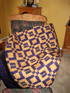 Crown Royal Quilt Made from Your Bags by SharonsQuilts on Etsy