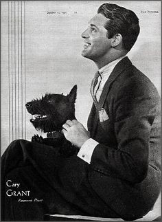 Vintage Doggy: Cary Grant and his scottie Gary Grant, Vintage Dog, Dogs Of The World, Old Hollywood, Classic Hollywood, Hollywood Stars, Westies, Little Dogs, Dog Photos