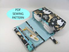 PDF Sewing Pattern --Diaper Clutch with clear zipper pouch. $10.00, via Etsy.