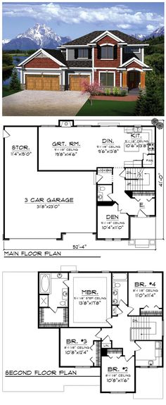 Prairie Style Traditional House Plan 73144