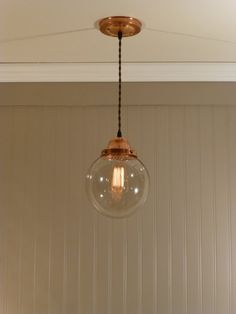 Copper Pendant Light with 8 inch Smoked by VintageCopperWorks, $98.00 THIS ONE!