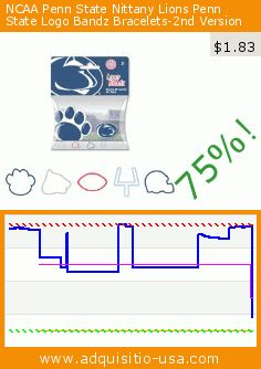 NCAA Penn State Nittany Lions Penn State Logo Bandz Bracelets-2nd Version (Sports). Drop 75%! Current price $1.83, the previous price was $7.26. https://www.adquisitio-usa.com/forever-collectibles/ncaa-penn-state-nittany-0