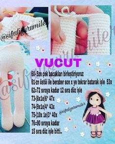 Crochet Dolls Texts Origami Elsa Doll Hair Build Your Own How To Make Crafts Tricot Amigurumi DollImage may contain: text – Sharing Women Amigurumi Patterns, Amigurumi Doll, Doll Patterns, Knitting Patterns, Crochet Patterns, Crochet Doll Pattern, Crochet Motif, Crochet Dolls, Crochet Hats