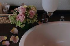 夏の終わりの装花 ラビュットボワゼ様へ