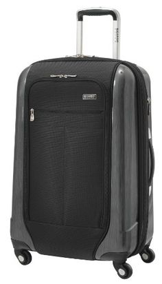 Ricardo Beverly Hills Luggage Crystal City 24 Inch Expandable Spinner Upright Suitcase, Black, Large