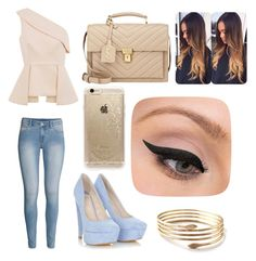"""""""Untitled #23"""" by emshort on Polyvore featuring C/MEO COLLECTIVE, H&M, Yves Saint Laurent, Rifle Paper Co and LORAC"""