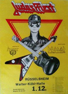 Original concert poster for Judas Priest live in Germany (1981). 23 x 33 on thin paper.