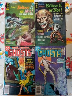 Vintage Horror Comics - Lot of 4 - Ghosts & Ripley's Believe it or Not! Bronze Age Comic books