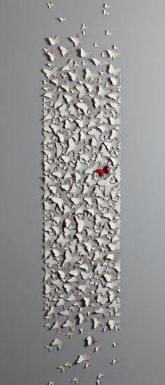 paper butterflies by hreshtak