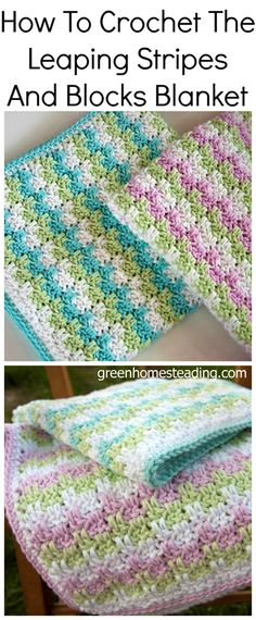 How to Crochet The Leaping Stripes And Blocks Blanket
