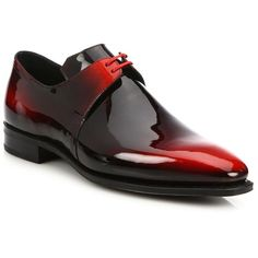 Corthay Arca Patent Leather Dress Shoes : Corthay Shoes ($2,210) ❤ liked on Polyvore featuring men's fashion, men's shoes, men's dress shoes, men, apparel & accessories and red