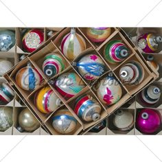 I love these old glass Christmas balls.