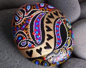 Queen of Hearts / River of Love / painted rocks, painted stones / Sandi Pike Foundas / Love From Cape Cod