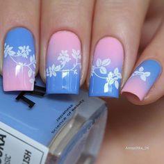 Стена Get Nails, Love Nails, How To Do Nails, Gradient Nails, Flower Nail Art, Nail Shop, Creative Nails, Nail Stamping, Nail Polish Colors