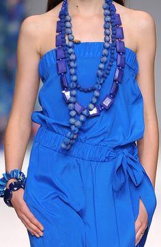 sept 2012 - by Blugirl milan Spring 2010 Fashion Now, Blue Fashion, Fashion Trends, Glamorous Chic Life, Bleu Cobalt, Shades Of Teal, Casual Elegance, Couture Fashion, Ideias Fashion