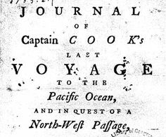 James Cook's Map of the East Coast of
