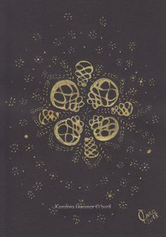Serenity Gassner ink painting, sixe in a cm mount Golden Pattern, Traditional Artwork, Group Art, Ink Drawings, Paper Frames, Black Paper, Art Store, Ink Painting, A5