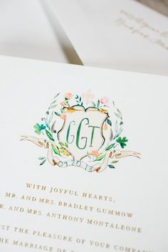 Monogram Invitations | Bridal Musings Wedding Blog