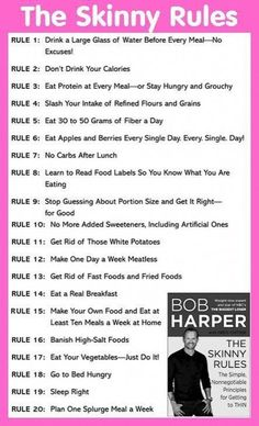Here are rules 1 to 20 of The Skinny Rules by Bob Harper – From Bob Harper's The Skinny Rules: The S Whether you have the time or not, there are plenty of fast weight loss tips to help you get where you want… Weight Loss Meals, Diets Plans To Lose Weight, Fast Weight Loss Tips, Weight Loss Drinks, Weight Loss Diet Plan, Losing Weight Tips, Healthy Weight Loss, How To Lose Weight Fast, Weight Gain