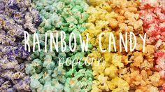 ¿Cómo preparar palomitas arco iris?