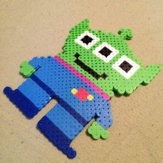 Alien Toy Story perler beads by prydz_me