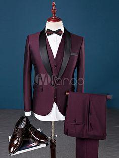 Slim Fit Wedding Suits For Men Shawl Collar 3 Pieces Burgundy Suit Mens Royal Blue Tuxedo Jacket Blue Tuxedo Jacket, Tuxedo Suit, Tuxedo For Men, Mens Fashion Suits, Mens Suits, Womens Fashion, Fashion Trends, Tuxedo Wedding Suit, Wedding Suits For Men
