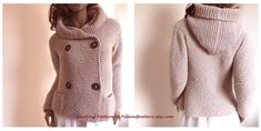 Modello di lavoro a maglia con cappuccio giacca di PillandPattern