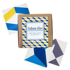 The 'Lisboa' Tile Packs by Skinny laMinx are the ideal gift for anyone with a creative flair as they can play with each motif to make their own designs.