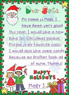 santa clip art, Christmas clip art, cute Christmas, holiday kids