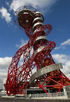 Now towering over London's Olympic Park: 'The Godzilla of public art'
