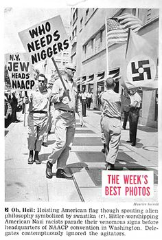 American Nazi Party Parade Before the NAACP Headquarters in Washington DC - Jet Magazine, July 9, 1964