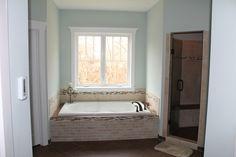 Master Bath with radiant heated floors in Kelsea Model