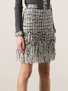 chanel tweed - gorgeous fringing dresses this skirt up.