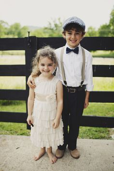 Ruffled - Vintage Ring Bearer  black pants + suspenders + hot pink bow tie  @Gretchen Rivera love this!!