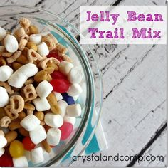 Letter of the Day Snack Idea: J is for Jelly Bean Trail Mix for Kids