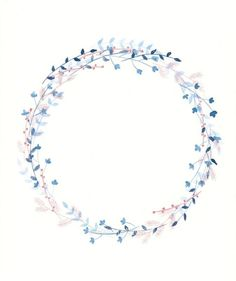 (notitle) - my floral obsession - Blumenkranz Wreath Watercolor, Watercolor Flowers, Watercolor Art, Watercolor Background, Geniale Tattoos, Deco Floral, Wreath Tutorial, Instagram Highlight Icons, Flower Frame
