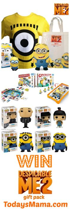 Win a cool Despicable Me 2 Gift Pack with games, toys, and Minion Plush! Hurry to enter!