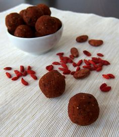 Red Velvet superfoods energy balls as a healthy snack for your busy days