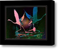Dancing Stars Stretched Canvas Print / Canvas Art By Ernestine Manowarda