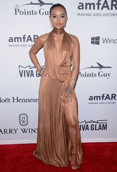 Karrueche Tran at the 7th Annual amfAR Inspiration Gala New York on June 9, 2016