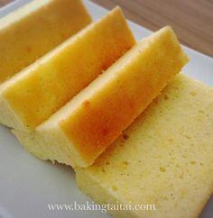 Baking Taitai 烘焙太太: Super Moist Low-Fat Butter Cake 超湿润低脂奶油蛋糕 (中英加图对照食谱)