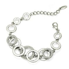 High Quality Silver Circles Bracelet