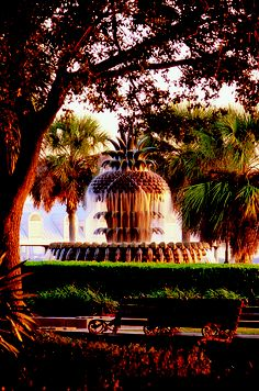 The Pineapple Fountain at Charleston's Waterfront Park