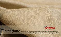 Herringbone fabric by H.P.Singh
