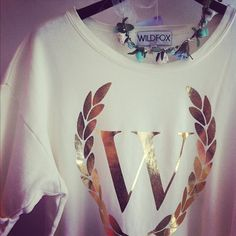 Wildfox 'Laurel' Sweatshirt, in the prettiest cream colour