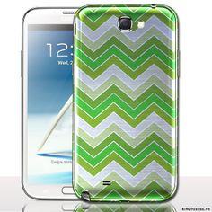 Coque Samsung Note 2 - Zig Zag Vert. #Coque #SamsungGalaxy #Note2 #Vert