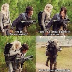 Daryl and Beth. The Walking Dead! They should have ended up together!!!!!! :'''(
