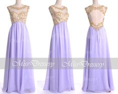 Lilac Prom Dresses 2014 Prom Gown Straps with Open by MissDressesy, $169.00