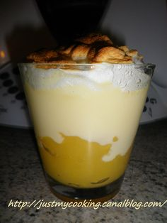 Apple meringue mousse (Thermomix) Just my cooking my little recipes! Cooking Tofu, Cooking Chef, Cooking Turkey, Cooking Recipes, French Desserts, Just Desserts, Dessert Recipes, French Recipes, Dessert Thermomix