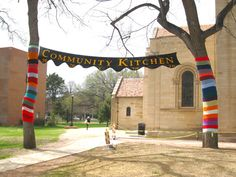 Yarn Bomb Installation Complete at Colorado College